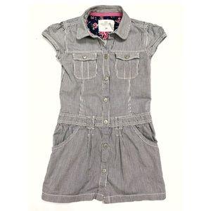 H&M Girls Striped Button Up Dress Size 5